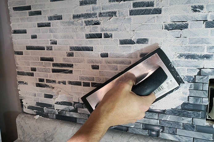 Applying Grout
